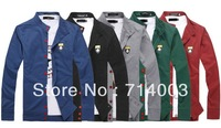 KS004 Fashion Style Men's Letters Embroidery Casual Knitwear Cardigan 5 Sizes 5 Colors Free Shipping