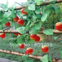 "10pcs/Lot ,220cm/87"" Artificial Silk Fruit Apple Vine ,Plastic Apple Garland for Home Garden Wedding Decoration,Wholesale"