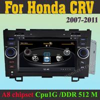 "Car DVD GPS for HONDA CR-V 2007-2011 7"" A8 1GMHZ CPU,DDR2 512M,Virtual 20 CD 3G internet, car radio gps unit for CRV"