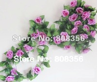 one piece  2.5m /8.2 feet Silk Simulation Artificial Rose Camellia  Flower Garlands Wedding Photography Christmas Decorate Vine