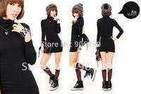 2014 Sale New Pullover Women Sweater Lady's Elegant Gentlewomen Tub Medium-long Slim Hip Basic Sweater Bottoming Shirt 4 Colors