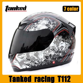 Tanked  racing  T112 motorcycle  helmet   High quality Full Face  helmet   M-XL