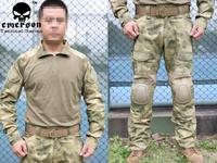 Emerson BDU Gen2 Combat Shirt & Pants & Pads  A-TACS/FG EM6922 free shipping