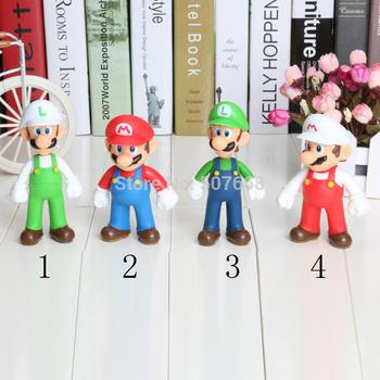 50PCS 5 inch PVC Super Mario and Luigi donkey kong Action Figures mario 4 staly mario Gift OPP retail