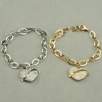 New arrival! Vintage heart link heart bracelet 2-color free shipping wholesale/retailer