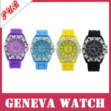 wholesale 500pcs/lot Geneva Watch jelly 100% Silicone Strap, Jewelry Quartz Face free shipping