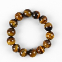 Wholesales high quality  tiger's eye stone beads strand bracelets for man free shipping