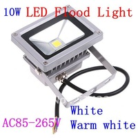 4pcs/lot AC85-265V 10W White&Warm White Landscape Lighting waterproof LED Flood Light LED street Lamp Free Shipping