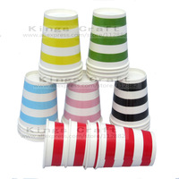 8OZ Drinking Paper Cups, Striped/Polka dots/ Wavy Party Paper Cups, Party Items Tableware Decorations Free Shipping
