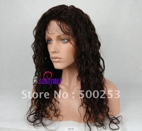 Sunnymay Body Curl Indian Virgin Human Hair Silk Top Lace Wigs