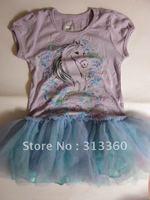 Toldder kids dress baby cliffon dress pettiskirts girls flower dress infant birthday dress