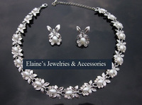 fashion shine peals & rhinestones bride jewelry set,cute butterfly shapes,free shipping by CPAM on MIN.ORDER $15