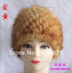 high quality Mink hair hat knitted mink hat fur hat multicolor(China (Mainland))