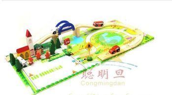Wooden Toys City Traffic Orbit Flyover/wooden traffic toys/educational toys for children