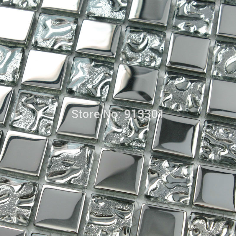 Mirrored Backsplash Tiles glass mosaic tiles for bathroom walls kitchen backsplash ...