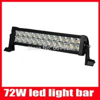 13 inch 72W LED Light Bar offroad light 9-30v Waterproof 72 Watt LED Work Light ATV SUV 4WD Drive Lamp free shipping