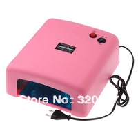 Free shipping  High quality   36W gel curing nail uv lamp 110V-120V Pink 4X9W Light Tube Nail Dryer  CE ROHS