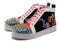 Spike Rivets  men sneakers hot sale spike sports shoes Flat men/women Running shoes
