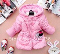 Retail - Free shipping 100% cotton Girls Minnie design the dim thick coat,children coat,children clothing