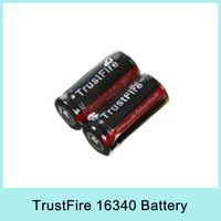 Hot Sale X2 TrustFire 16340 880mAh 3.7V Rechargeable Li-ion Battery with PCB for LED flashlight For Russia Drop Shipping