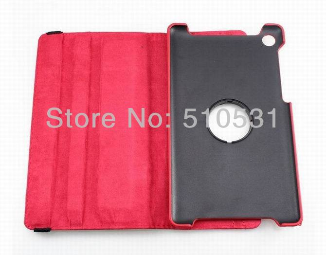 Popular PU leather 360c rotation case for Google Nexus 7 II 2 2nd flip cover,sleep/wake up,retail and wholesale