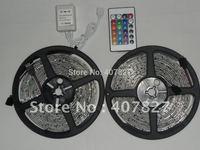 10M/2 rolls LED stirp light RGB SMD3528-60led./M Waterproof IP65 only $2.3/M+ 24KEY IR Remote Controller  Decoration Room/Car