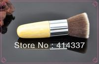 New MAKEUP Flat Buffer Brush Flat Top bamboo handle Cosmetic Foundation Brush