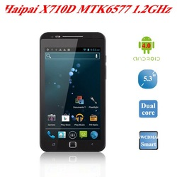 Haipai X710D Android 4.0.9 MTK6577 dual core 1GHz Cortex-A9 WCDMA 8.0MP camera 5.3 inch Capacitive touch screen 3G samrtphone(China (Mainland))