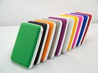 100pcs/lot free DHL new design silica gel plain face credit wallet (10 colors avaliable) name card holder crdit card cases