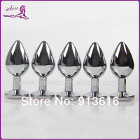 Max dia3.5*8.5cm/90g Middle Size Metal Anal Butt Plug Sex Toys Sex Products