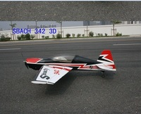 rc plane model 4ch balsa wood Sbach 342 3D KIT ONLY
