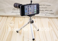 Hot selling ! Random delivery + Free Shipping+Universal Optical Telescope, 8X Zoom Lens for iPhone 4/4S/5/5s ,With accessories.