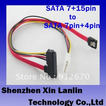 15+7 pin Data to 5 pin IDE Power SATA hard Cable 5pcs free shipping #6531