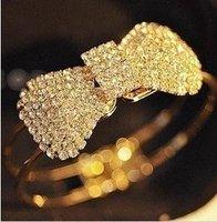 18 k plated fashion elegant bow bracelet   Free shipping