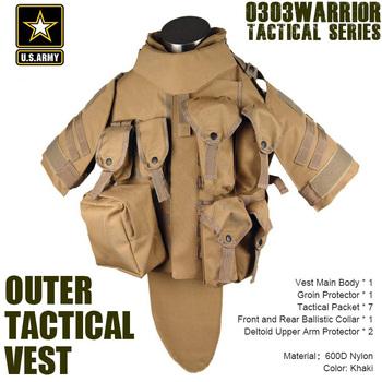 ACU OTV MOLLE Compatible Modular Military Camouflage interceptor Tactical Vest sets Combat Body Armor Vest Adjustable Size TV-02