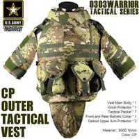 CP OTV MOLLE Compatible Modular Military Army interceptor Tactical Vest sets Combat Body Armor Vest Adjustable Size TV-03