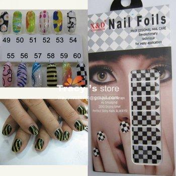 Latest Upgrade Version 12 Sheet/Set 120sets 60 Styles Nail Gel Sticker Foils Art Wraps Cover Decals Glitter Decoration Polish