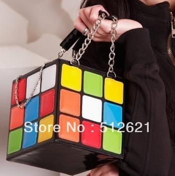 Girl Women's Colourful Cute Magic Cube Bag Handbag Purse Gift  B032
