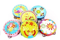 Children's music toy 2012 baby auditory tambourines lovly toys for baby(China (Mainland))