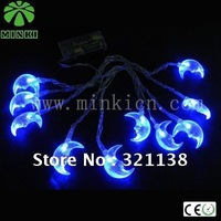 MINKI DC3V 2pcs AA batteries powered 1.2m 10 leds  mystery moon shape led string light