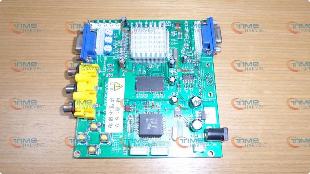2 pcs RGB TO VGA Converter PCB CGA TO VGA converting board one VGA output for arcade game LCD monitor machine game cabinet(China (Mainland))