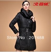 Women Clothing high quality Competitive price Winter slim  medium-long mink hair collar down coat