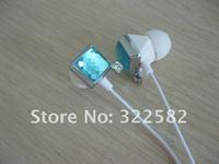 colourful jewels earphone for girls beautiful and fashional bling earphone