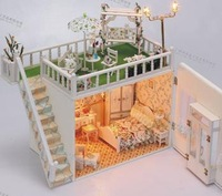 Free shipping  Diy perfect dream Wooden house model Diy doll house Fashion gift