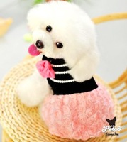 Clearance Fashion Princess Style Pet Clothes Cute Dog Wedding Dress Giving necklace, Pink Color Size XS ,S, M, L, XL