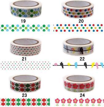 Free shipping  wholesale Fashion 10m washi masking tape,multifuntion DIY tape, decoration tape,sticker,random pattern,20pcs/lot
