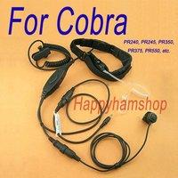 Detachable Medium Duty Double Sensors Throat vibration Microphone for Cobra PR245,PR350,PR375,PR550 interphone