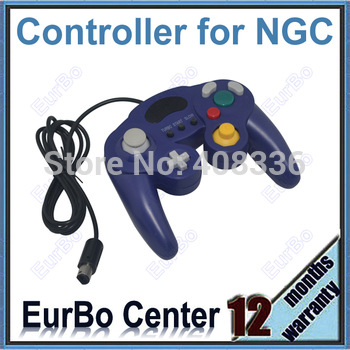 Purple Three Button Style Game Controller for GameCube for NGC for Wii (EW082)