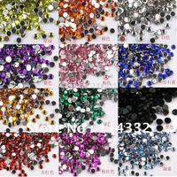 free shipping 10000 pcs /Bag Clear Crystal Glitter Nail Art beautiful Rhinestone Decoration 2mm 12 color
