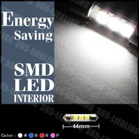 New 44mm 3smd 12V 5050 Interior Car Festoon Led Dome Bulb Light Lamp White Blue Pink